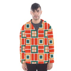 Squares and rectangles in retro colors Mesh Lined Wind Breaker (Men)