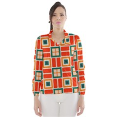 Squares And Rectangles In Retro Colors Wind Breaker (women)