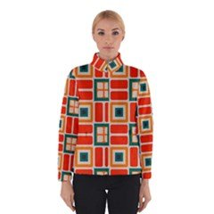 Squares And Rectangles In Retro Colors Winter Jacket