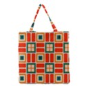 Squares and rectangles in retro colors Grocery Tote Bag View1