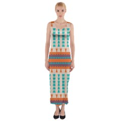 Etnic design Fitted Maxi Dress