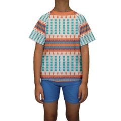 Etnic design  Kid s Short Sleeve Swimwear