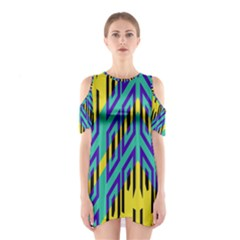 Tribal angles Women s Cutout Shoulder Dress