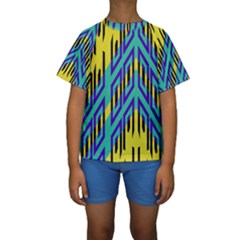Tribal angles  Kid s Short Sleeve Swimwear