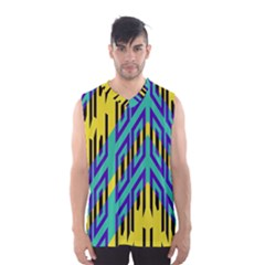Tribal angles Men s Basketball Tank Top