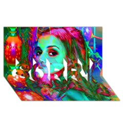 Alice In Wonderland Sorry 3d Greeting Card (8x4)