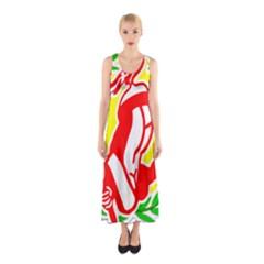 R&H Logo by Ignatius Rake Full Print Maxi Dress