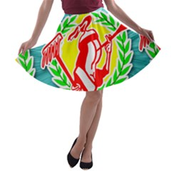 Logo Tessalated Edited 8 A-line Skater Skirt