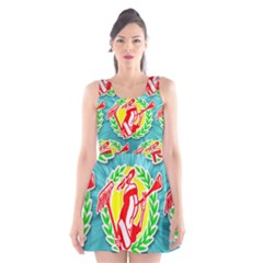Logo Tessalated Edited 8 Scoop Neck Skater Dress
