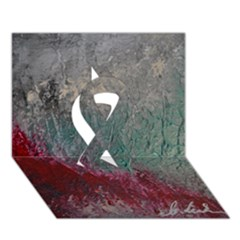Metallic Abstract 1 Ribbon 3d Greeting Card (7x5)