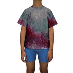 Metallic Abstract 1 Kid s Short Sleeve Swimwear