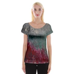 Metallic Abstract 1 Women s Cap Sleeve Top