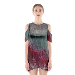 Metallic Abstract 1 Cutout Shoulder Dress