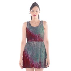 Metallic Abstract 1 Scoop Neck Skater Dress