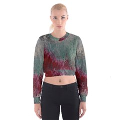 Metallic Abstract 1 Women s Cropped Sweatshirt