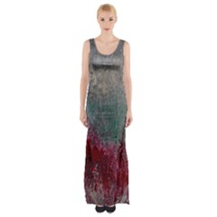 Metallic Abstract 1 Maxi Thigh Split Dress