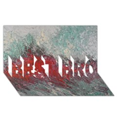 Metallic Abstract 2 Best Bro 3d Greeting Card (8x4)