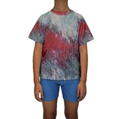 Metallic Abstract 2 Kid s Short Sleeve Swimwear