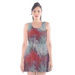 Metallic Abstract 2 Scoop Neck Skater Dress