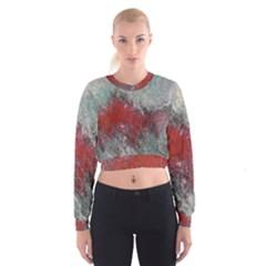 Metallic Abstract 2 Women s Cropped Sweatshirt