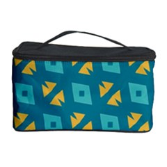 Blue Yellow Shapes Pattern Cosmetic Storage Case