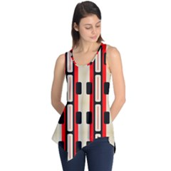 Rectangles And Stripes Pattern Sleeveless Tunic