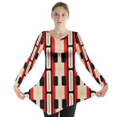 Rectangles and stripes pattern Long Sleeve Tunic