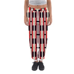 Rectangles and stripes pattern Women s Jogger Sweatpants