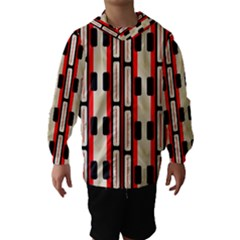 Rectangles and stripes pattern Hooded Wind Breaker (Kids)