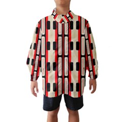 Rectangles and stripes pattern Wind Breaker (Kids)