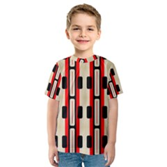 Rectangles and stripes pattern Kid s Sport Mesh Tee