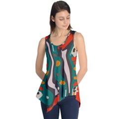 Retro colors chaos Sleeveless Tunic