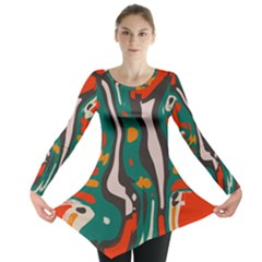 Retro colors chaos Long Sleeve Tunic