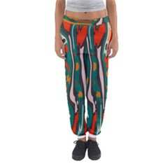 Retro colors chaos Women s Jogger Sweatpants