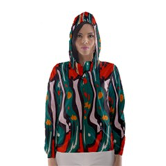 Retro Colors Chaos Hooded Wind Breaker (women)