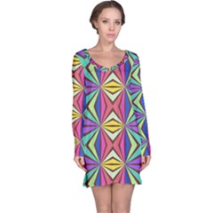 Connected Shapes In Retro Colors  Nightdress