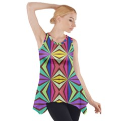 Connected shapes in retro colors  Side Drop Tank Tunic