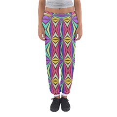 Connected shapes in retro colors  Women s Jogger Sweatpants