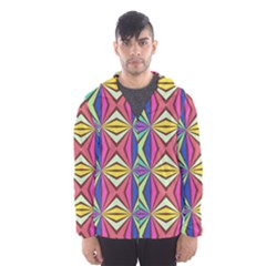 Connected shapes in retro colors  Mesh Lined Wind Breaker (Men)