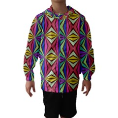Connected Shapes In Retro Colors  Hooded Wind Breaker (kids)