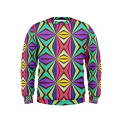 Connected Shapes In Retro Colors   Kid s Sweatshirt