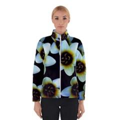 Light Blue Flowers On A Black Background Winterwear
