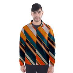 Diagonal stripes in retro colors Wind Breaker (Men)