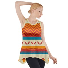 Tribal shapes  Side Drop Tank Tunic