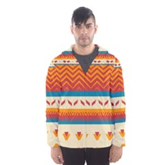 Tribal shapes  Mesh Lined Wind Breaker (Men)
