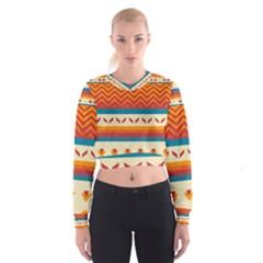 Tribal shapes    Women s Cropped Sweatshirt