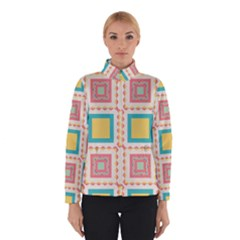Pastel squares pattern Winter Jacket