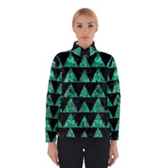 Triangle2 Black Marble & Green Marble Winter Jacket