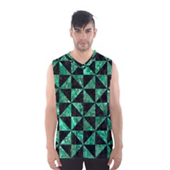 Triangle1 Black Marble & Green Marble Men s Basketball Tank Top