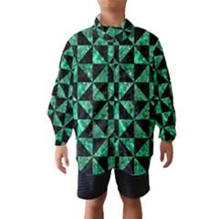 Triangle1 Black Marble & Green Marble Wind Breaker (kids)